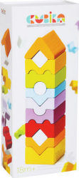 Jucarie Din Lemn Cubika Set Constructii - Turn - 12 piese