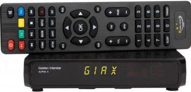 Receptor satelit digital HD Golden Interstar Apha X FTA Multistream