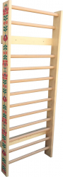 Spalier Gimnastica Pictat Manual Prospalier 230x85 cm 14 BARE M1 lacuit natur lemn Accesorii fitness