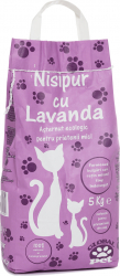 Asternut igienic pentru pisici Nisipur Lavanda 5 kg Ingrijire si igiena animale
