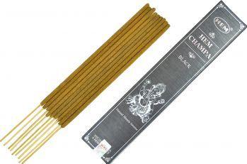 Betisoare parfumate premium e-palosanto Hem Champa Neagra 15 gr. Odorizante