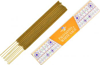 Betisoare parfumate premium e-palosanto Palo Santo si Salvie Alba 15 gr. Odorizante