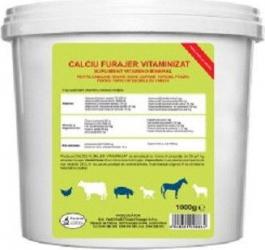 Calciu furajer vitaminizat pentru bovine cabaline ovine pasari de curte porcine Pasteur 5Kg Hrana animale