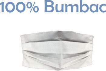 Masca de protectie refolosibila din bumbac 100 lavabila dublu strat cu densitate mare alba Masti chirurgicale si reutilizabile