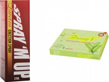 Pachet Spray Lavetra pentru Controlul Ejacularii Barbati Spray M Up 22ml + o pastila StrongV Vitamine si Suplimente nutritive