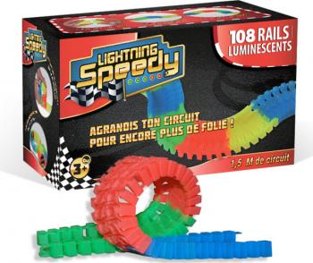 Pista masinute Lightning Speedy cu 108 Sine Jucarii