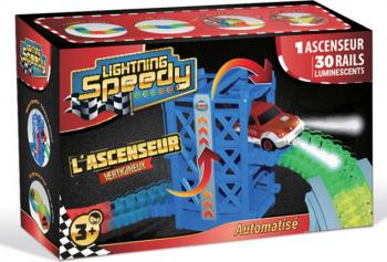 Pista masinute Lightning Speedy cu lift si 30 sine Jucarii
