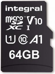Card de memorie Integral 100V10 64GB Micro SDXC Clasa 10 UHS-I + Adaptor SD Carduri Memorie