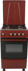 Aragaz clasic Studio Casa Galaxy 4G 50/50 cm 4 arzatoare gaz Cuptor gaz Rosu/inox Aragazuri