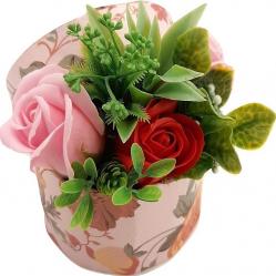 Aranjament floral Sevirox Decor cu trandafiri din sapun rosu roz Flori si Aranjamente florale