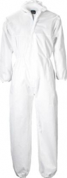 Combinezon alb din polipropilena cu gluga inchidere cu fermoar mansete elastice marimea XL Aparate medicale