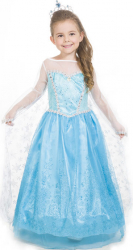 Rochie fetite Elsa - Printesa Ghetii 3-4ani Costume serbare