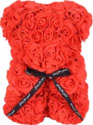 Ursulet cu trandafiri din spuma Rosu 25 cm SeviroxDecor Flori si Aranjamente florale
