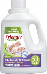 Detergent rufe bebe lavanda Friendly Organic 53 spalari 1567ml Detergent ecologic