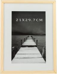 Rama foto alvin din lemn 21x29 7 cm culoare crem