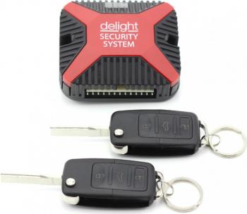 Set pentru controlarea inchiderii centralizate Delight 2 telecomenzi cu cheie briceag Alarme auto si Senzori de parcare