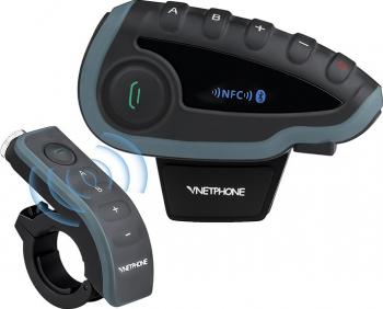 Sistem de comunicare moto intercom EJEAS V8 conversatie de pana la 5 rideri simultan Telecomanda NFC Bluetooth FM Radio