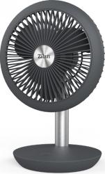 Ventilator portabil reincarcabil ZILAN ZLN-4000 incarcare USB Putere 5W Diametru 18 cm 4 viteze reglabil pe vertical Gri