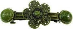 Clama de par bronz model floare cu unakit