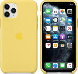 Husa Compatibila Apple pentru iPhone 11 Pro Silicon Yellow Huse Telefoane