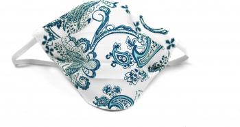 Masca fata fashion bumbac alba blue Accesorii Dama