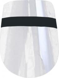 Set 10 masti plastic de tip viziera pentru protectie fata prindere reglabila transparent