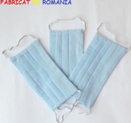 Set de 3 masti de protectie reutilizabile bleu Masti chirurgicale si reutilizabile