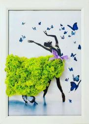 Tablou Licheni Art Balerina 33X25 cm