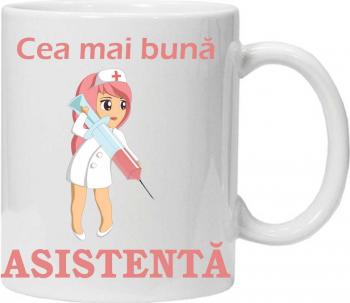 Cana personalizata cu textul cea mai buna asistenta Cadouri