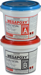 Chit de rosturi epoxidic alb Megapoxy TG 01L rezistent la acizi Accesorii materiale de constructie