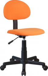 Scaun de birou copii negru/portocaliu Bortis Impex