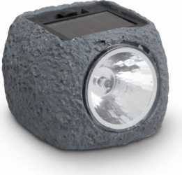 Lampa solara LED - Imitatie roca Motor Starter 1 LED de culoare alba acumulator AAA/1 2V/40 mAh cu intrerupator ON/OFF Corpuri de iluminat