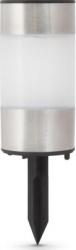 Lampa solara LED Motor Starter model INOX/alb pitic lumina alb/mat intrerupator ON/OFF temperatura culoare 6500K acumulator NiMh Corpuri de iluminat