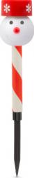 Lampa solara LED Motor Starter model Om de Zapada Fulg de Nea culoare rosu/alb intrerupator ON/OFF temperatura culoare 6500K acumulator Corpuri de iluminat