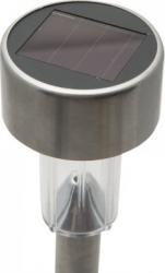 Lampa solara LED pentru exterior Motor Starter dimensiuni 185 x 55 mm din metal cu intrerupator ON/OFF acumulator AAA 200 mAh 1 2V Corpuri de iluminat