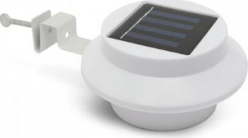 Lampa solara LED pentru jgheaburi/stresini/garduri cu 3 LED-uri culoare alb cu intrerupator ON/OFF 3 buc. LED-uri cu intensitate Corpuri de iluminat