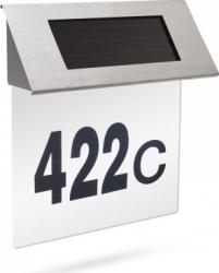 Numar de casa inox Motor Starter cu iluminare LED solara intensitate luminoasa12 lumeni pornire/oprire automata Corpuri de iluminat