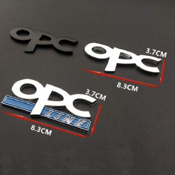 Emblema/Ornament metal O.P.C. Line cromat/argintiu prindere metalica/surub Lacate