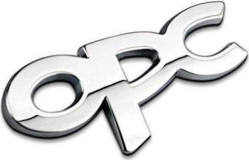Emblema/Ornament metal O.P.C. Line sticker cromat/argintiu Lacate