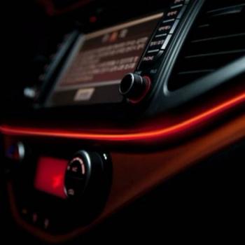 Fir cu lumina ambientala pentru masina neon ambiental flexibil 3M ROSU Lacate