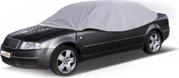 Husa/parasolar protectie parbriz/geamuri laterale/acoperis pentru iarna triplu strat de protectie impermeabil 265x125 cm marime L gri Lacate