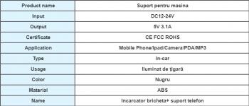 Incarcator bricheta and suport telefon 2 in 1 Premium Pro - Motor Starter Lacate