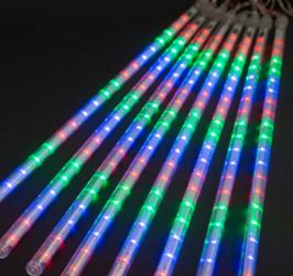 Instalatie de Craciun tip turturi Meteor iluzia unor turturi de gheata in topire 384 LED 8 turturi x 48 LED lungime turture 50 cm putere Lacate