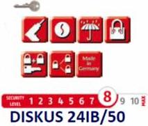 Lacat DISKUS ABUS 24IB/50 - nivel securitate 8 din 10 Lacate