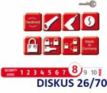 Lacat DISKUS ABUS 26/70 - nivel securitate 8 din 10 Lacate