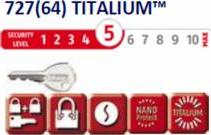 Lacat Titalium ABUS 727/20 - nivel securitate 5 din 10 Lacate