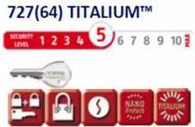 Lacat Titalium ABUS 727/25 - nivel securitate 5 din 10 Lacate