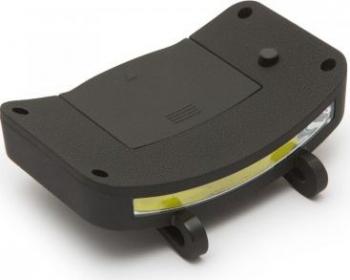 Lampa de lucru cu COB LED cu fixare pe cozorocul sepcii putere 3W 200 lumeni ABS cauciuc Phenom