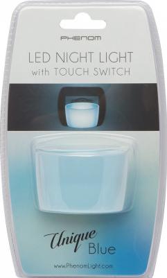 Lumina de veghe LED 1W cu senzor tactil - albastru Phenom Unique Blue