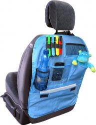 Organizator Mammooth practic montat pe scaun auto cu buzunare albastru Lacate